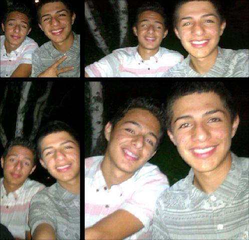 My bro & I :D  After a party ah Well follow me on ig @_ricardo_reyes_ I'll follow back (; and I  follow you back on here too !!  Like|comment