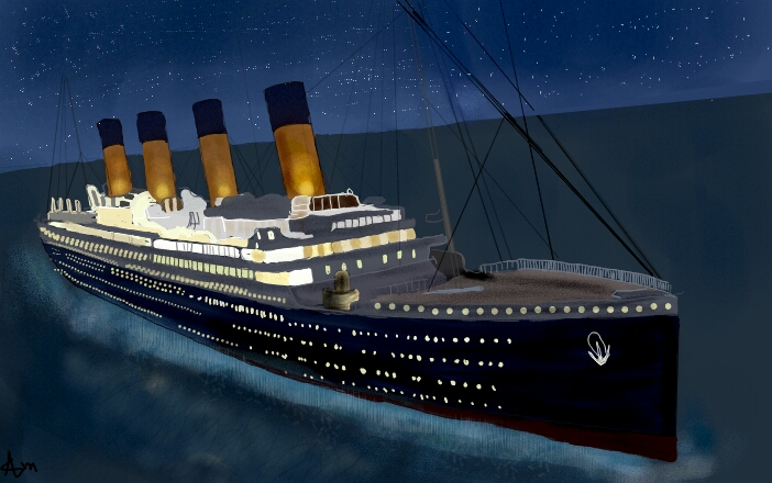 I Drew Titanic Ship If U Like It Please Vote For Me