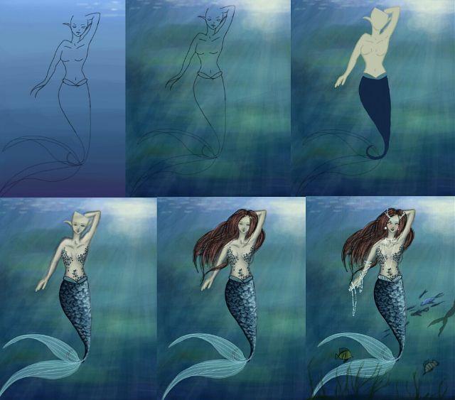 mermaid drawing tutorial