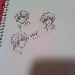 males angles manga pencil art sketchbook