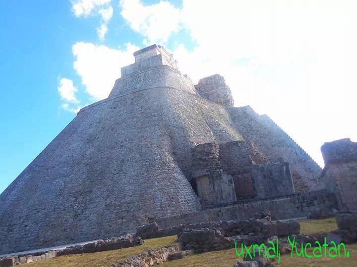 Uxmal Yucatán. Parte de algún lugar del estado.