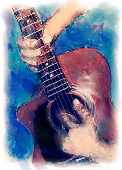 painting dcguitar guitar people