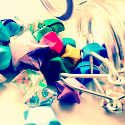 bottle origami stars wishes