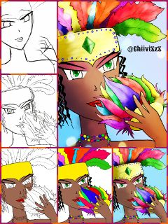 drawing drawstepbystep collage colorful carnival