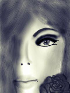 dcpencilsketch black & white flower pencil art people