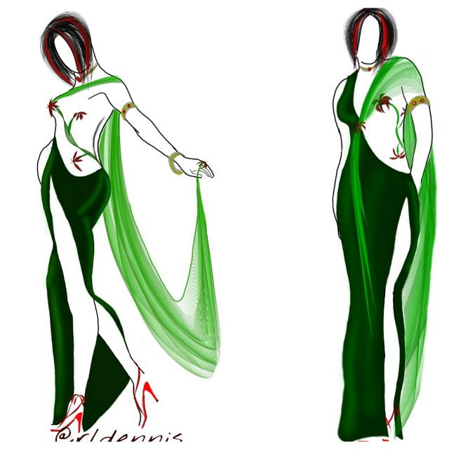 re entry an old fashion sketch ;-) ty #dcfashion #dcfashionsketch