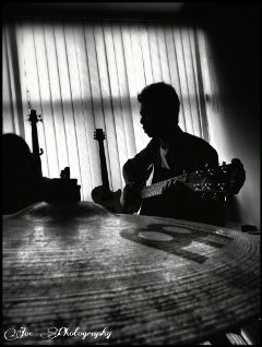 photography hdr guitar silhouette vintage music