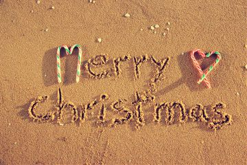 christmas photography love colorful beach