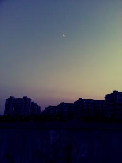 photography sky sunset moon dark