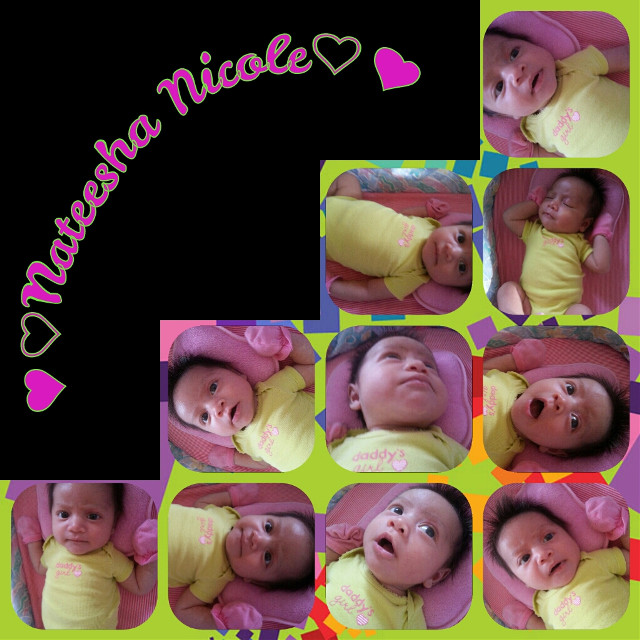 #babygirl #nateeshanicole #septemberbaby #1month #pink #expressions