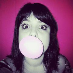 pink cute bubblegum gum